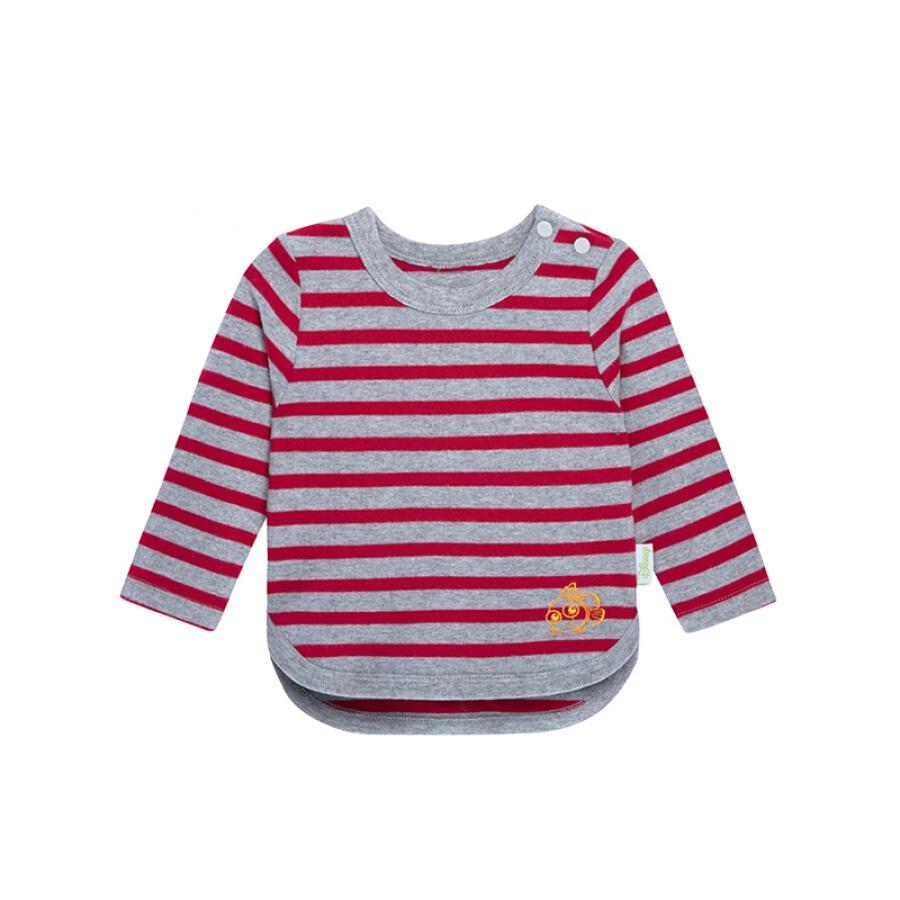 Áo Thun Sọc Ngang Trẻ Em Hoa Văn Thêu Disney Baby Navy 153S711