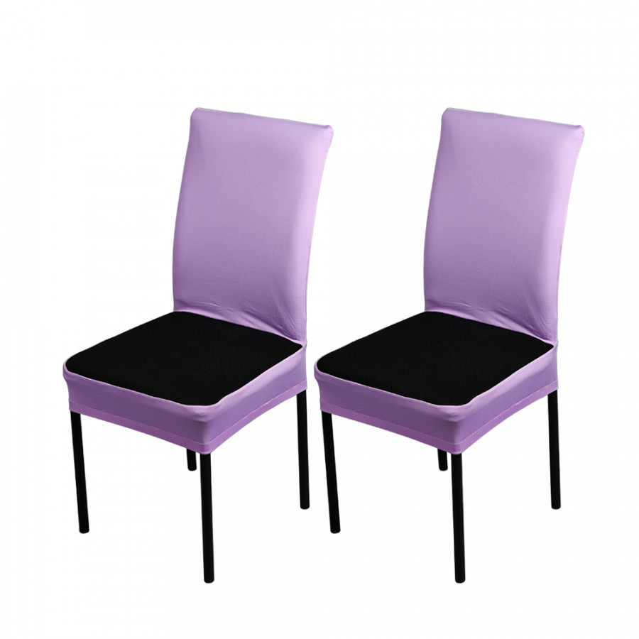 2pcs/set Breathable Spandex Stretchable Dining Chair Seat Covers Dustproof Ceremony Chair Slipcovers Protectors Wedding