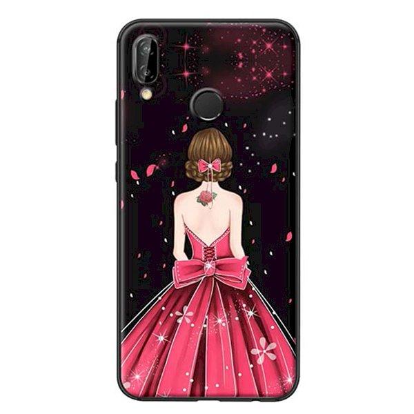 Ốp Lưng Dành Cho Huawei Nova 3E Cô Gái Váy Hồng