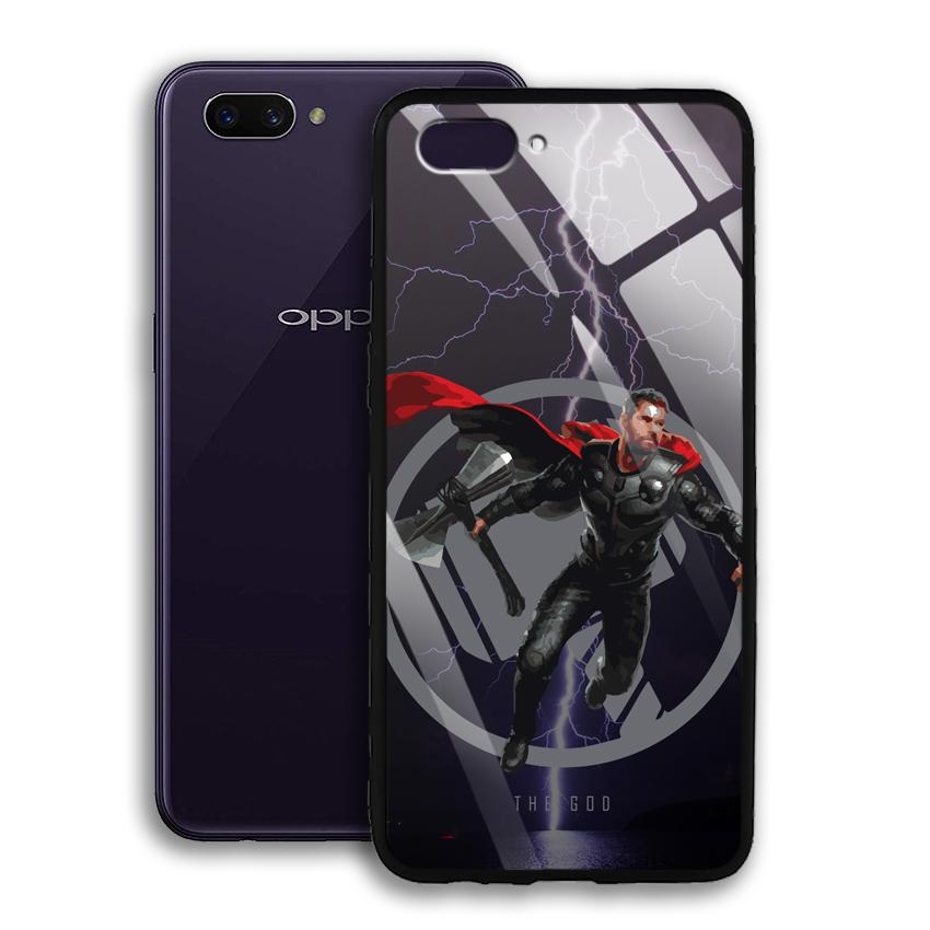 Ốp Lưng Kính Cường Lực cho điện thoại Oppo A3s - 03028 0540 GOD01 - Hàng Chính Hãng