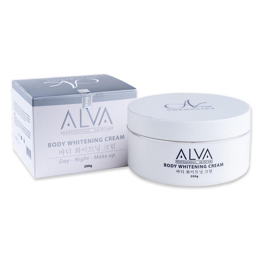 Kem Dưỡng Da Toàn Thân ( Tay  Chân ) Chuyên Sâu Ban Ngày ALVA - Body Whitening Cream 200gr
