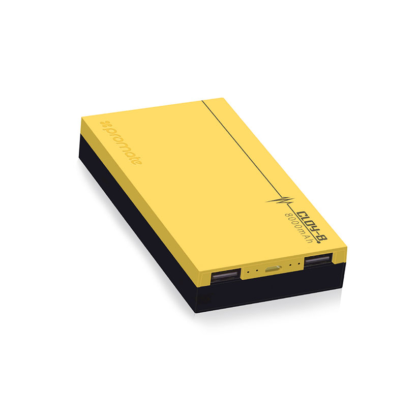 Pin Sạc Dự Phòng Promate Cloy-8 Lõi LiPo 8000mAh - Vàng