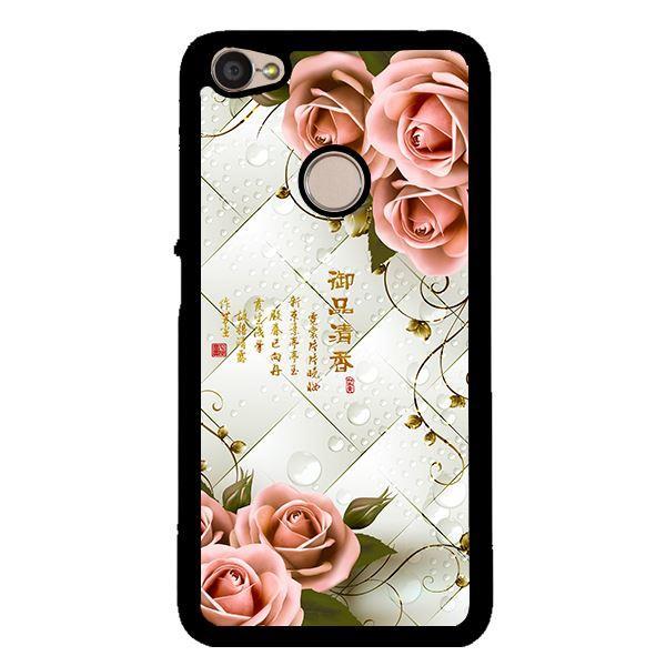Ốp lưng dành cho điện thoại Xiaomi Redmi note 5A prime Hoa Hồng Nền Sọc