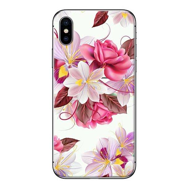 Ốp Lưng Dành Cho iPhone X - Mẫu  Hoa Hồng Trắng