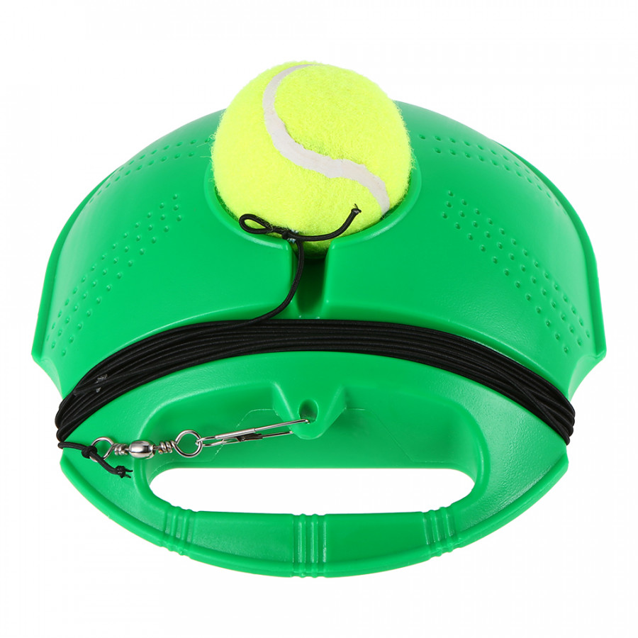 Tennis Trainer Tennis Practice Baseboard Training Tool Tennis Exercise Rebound Ball with StringGreen