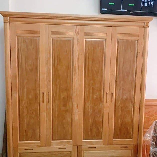 Tủ gỗ cao cấp  4 buồng