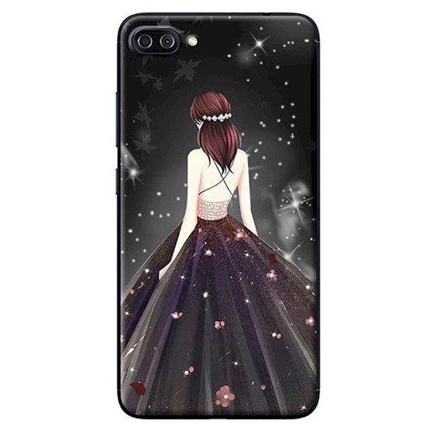 Ốp Lưng Dành Cho Asus Zenfone 4 Max ZC520KL - Mẫu Cô Gái Váy Đen Áo Dây