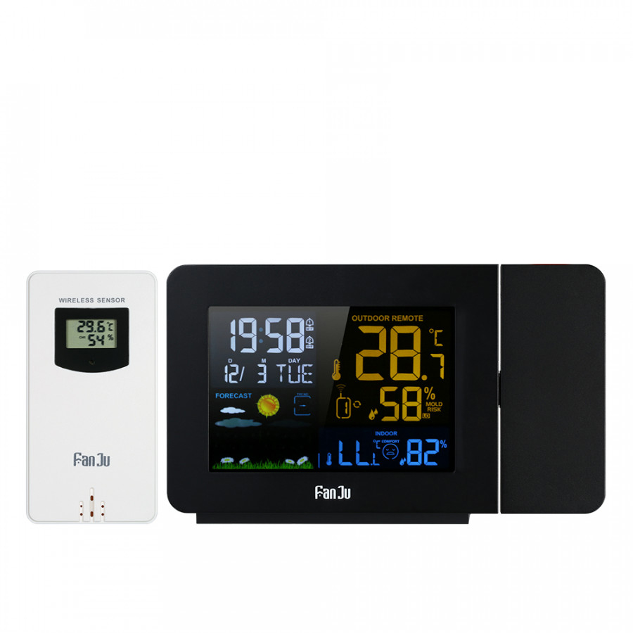 FanJu USB Operated Wireless Digital Colorful LCD Weather Station Projection Alarm Clock Indoor/Outdoor Thermometer - 7585567 , 5972539441348 , 62_16858218 , 936000 , FanJu-USB-Operated-Wireless-Digital-Colorful-LCD-Weather-Station-Projection-Alarm-Clock-Indoor-Outdoor-Thermometer-62_16858218 , tiki.vn , FanJu USB Operated Wireless Digital Colorful LCD Weather Stati