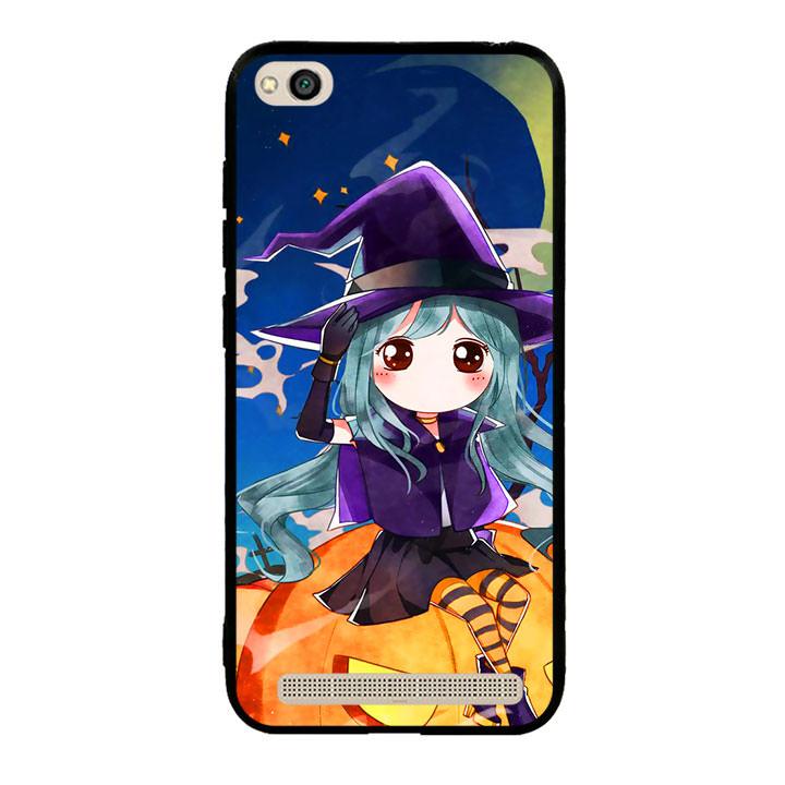 Ốp lưng Halloween viền TPU cho điện thoại Xiaomi Redmi 5A - Mẫu 04