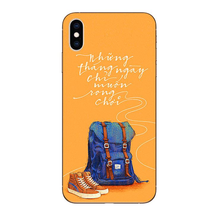 Ốp lưng dẻo cho Iphone XS Max - Tháng Ngày Rong Chơi