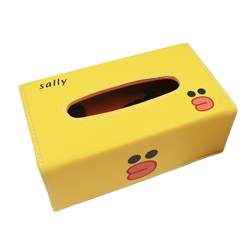 Hộp đựng giấy ăn bọc da Pu cao cấp Royal Tissue Box Vịt Sally + tặng 01 sổ tay