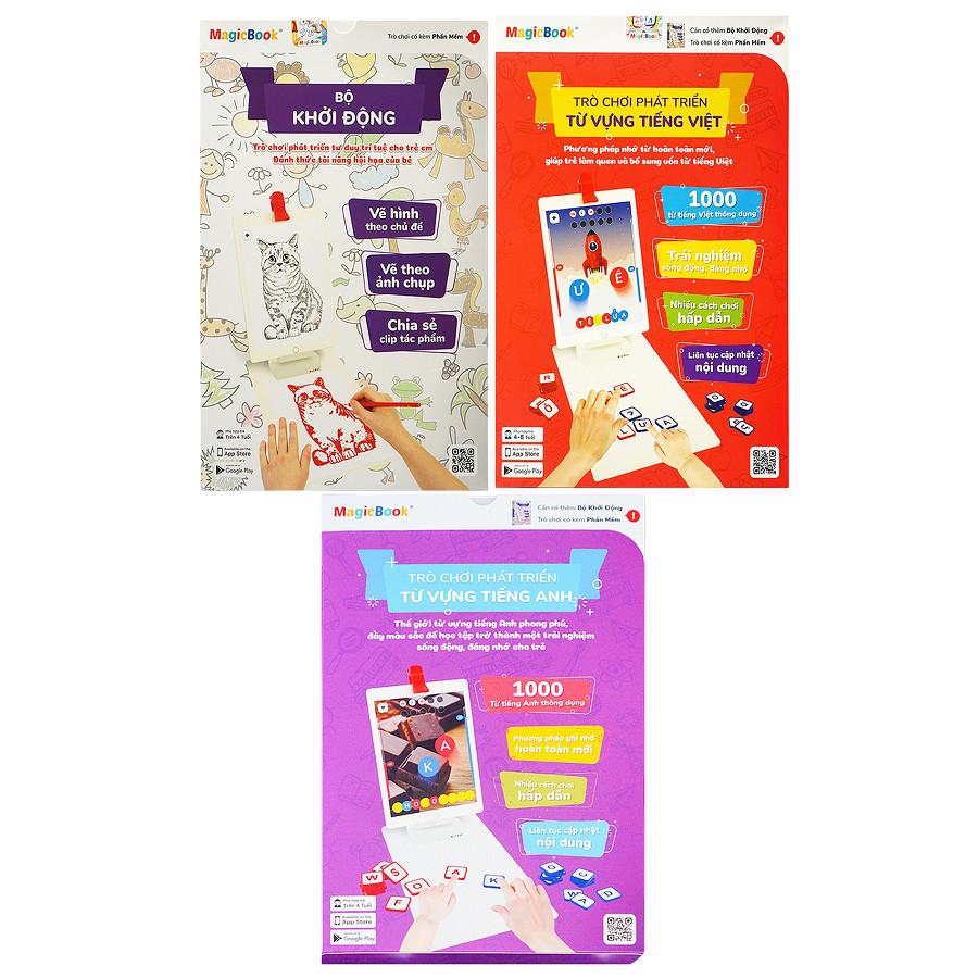 Magicbook Combo L-Box3: Bộ Vẽ Hình + Bộ Tiếng Anh + Bộ Tiếng Việt