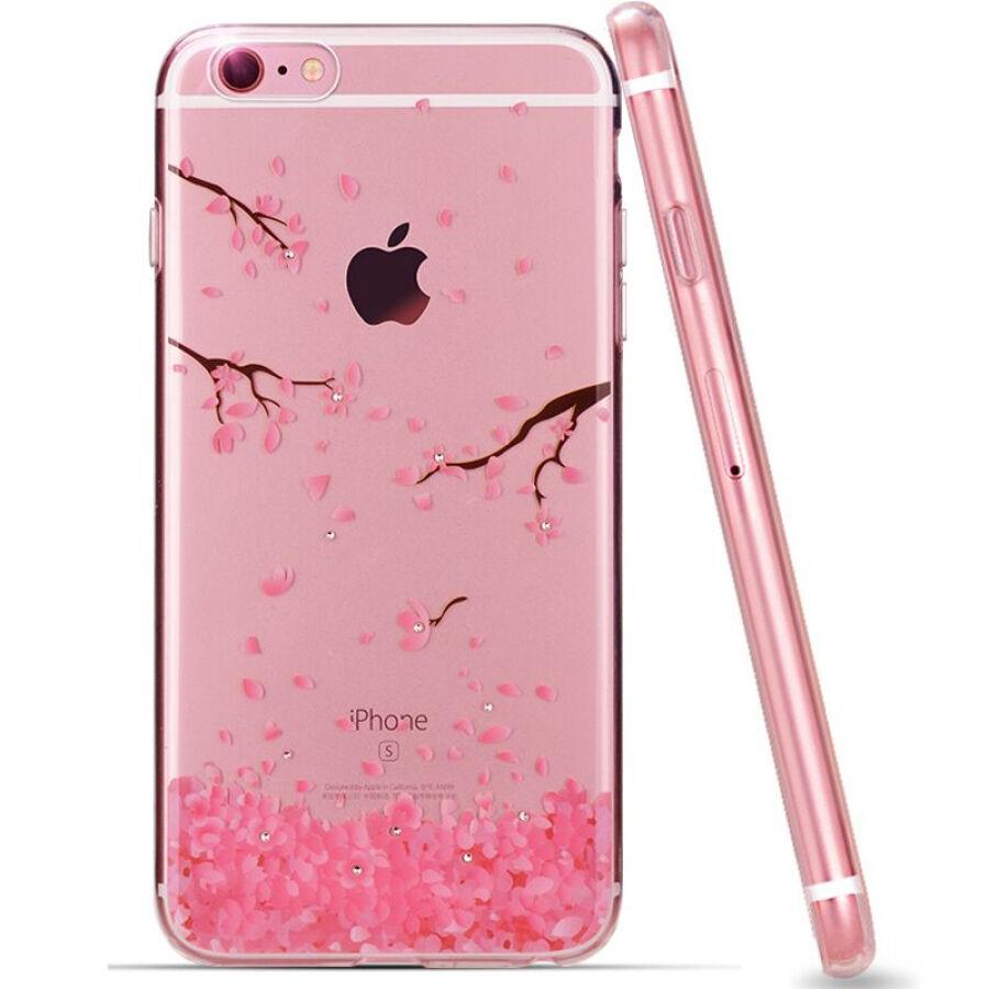 Ốp Lưng Nhựa Dẻo Pizza Dành Cho iPhone 6 Plus/6S Plus - Họa Tiết Hoa Anh Đào
