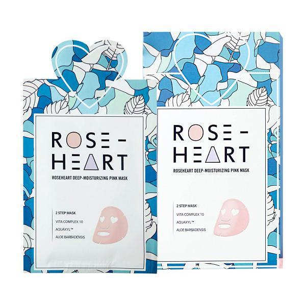 Combo 5 mặt nạ dưỡng ẩm sâu và tái tạo da 2 bước Roseheart