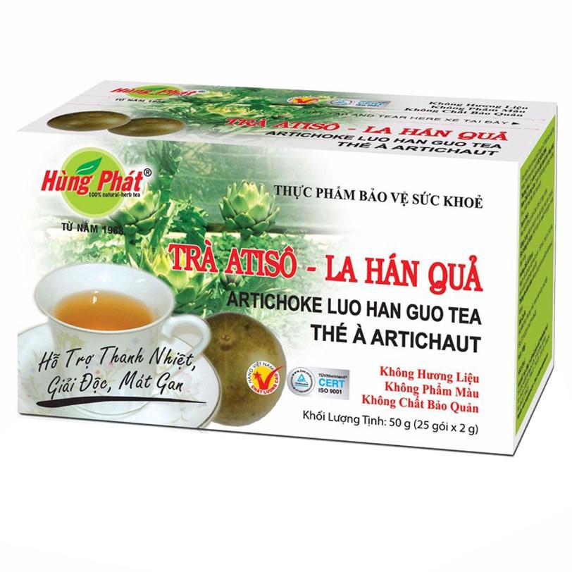 Trà Atisô La Hán Quả Hùng Phát hộp 25 gói x 2 g