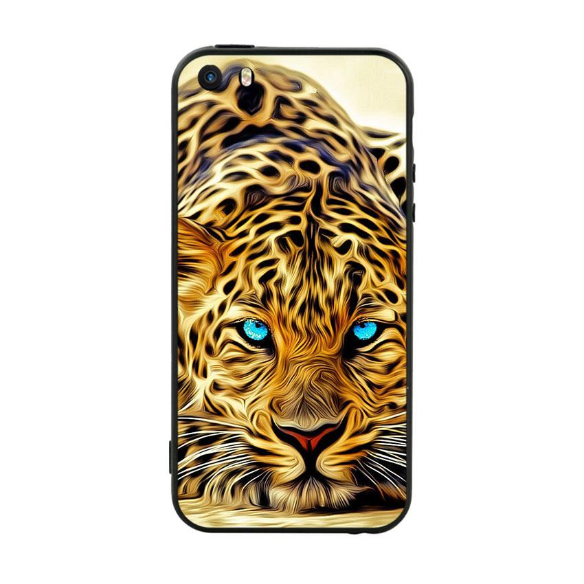 Ốp Lưng Viền TPU Cao Cấp Dành Cho iPhone 5 / 5s - Báo đốm