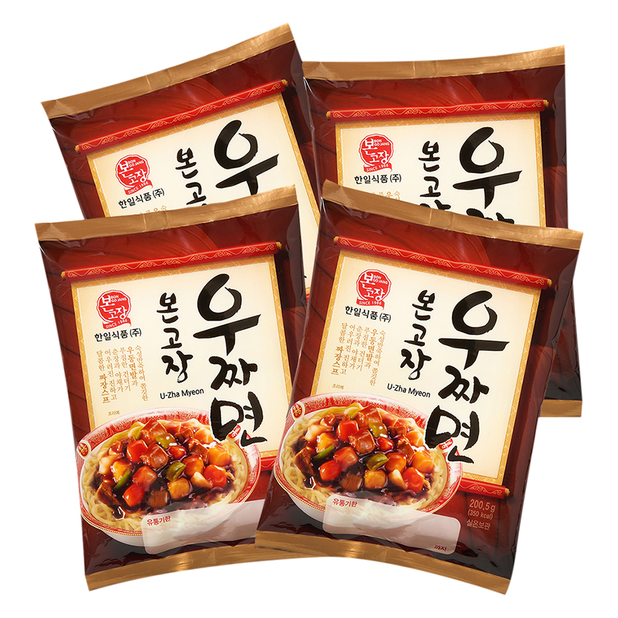 Combo 4 Gói Mì Udon Jjajang Hanil Food (200.5g / Gói)