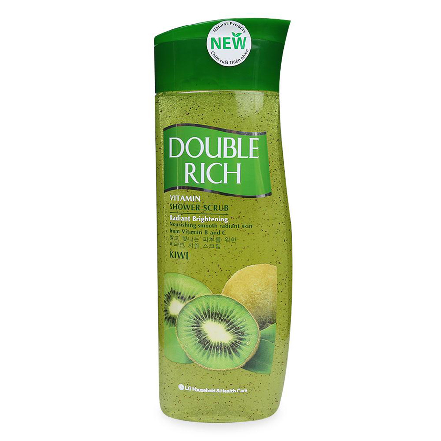 Sữa Tắm Chiết Xuất Kiwi Double Rich Shower Scrub Chai (420g)