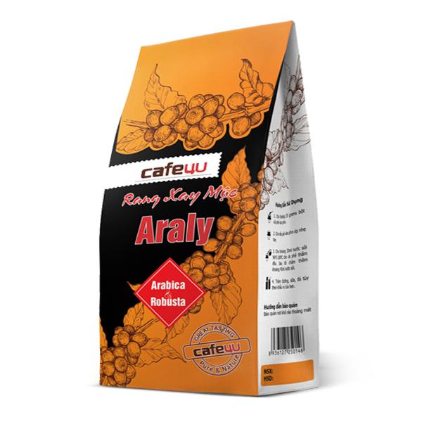 Café Rang Xay Mộc Nguyên Chất Arabica Và Robusta Cafe4U Araly (250g)