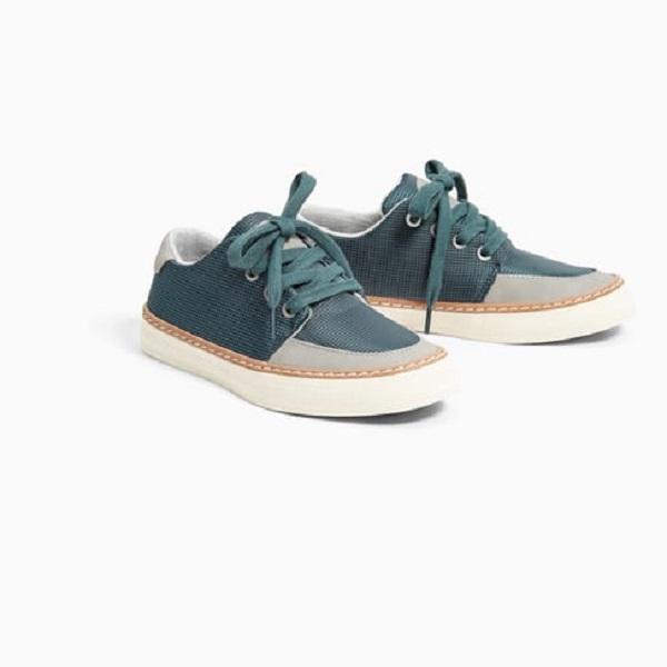 Giày Sneaker Xanh Phối Caro Gót Ghi 861527
