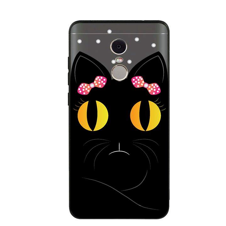 Ốp lưng viền TPU cho Xiaomi Redmi Note 4 - Mèo Mun 02