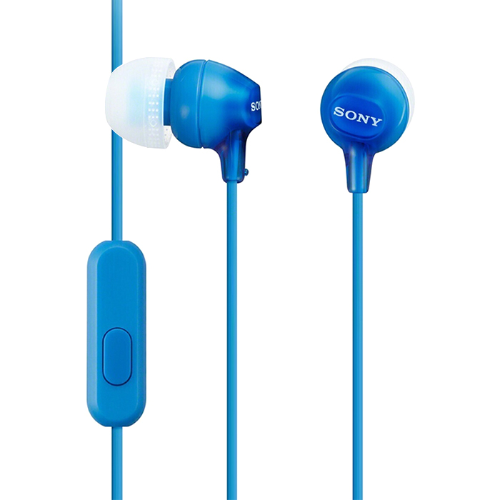 SONY MDR-EX15AP In-ear Headphones 3.5mm Wired Earbud Smart Phone Headset Hands-free with Mic In-line Control EX Series