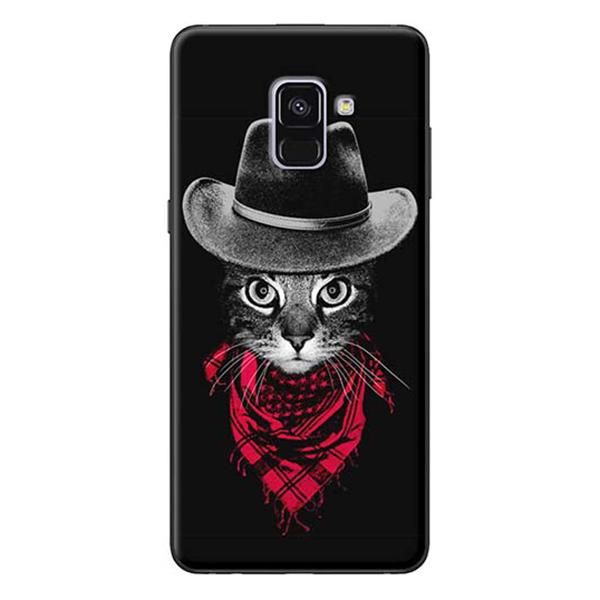 Ốp Lưng Dành Cho Samsung A8 Plus - Mẫu Mèo Đội Nón