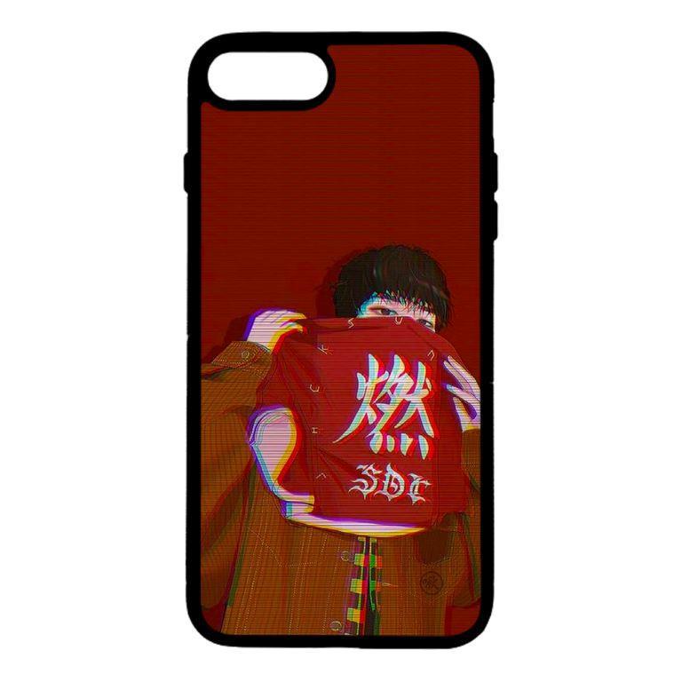 Ốp lưng dành cho điện thoại Iphone 8 Plus Chàng Trai Nền Đỏ