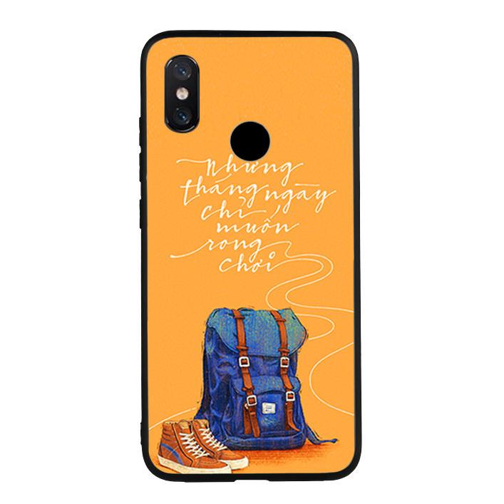 Ốp lưng nhựa cứng viền dẻo TPU cho Xiaomi Mi 8 - Tháng ngày rong chơi