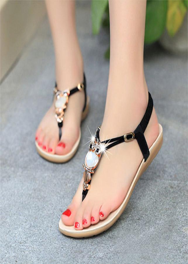Giày Sandal cú mèo mặt đá SD229 - 1200555 , 6813075751524 , 62_7670817 , 220000 , Giay-Sandal-cu-meo-mat-da-SD229-62_7670817 , tiki.vn , Giày Sandal cú mèo mặt đá SD229