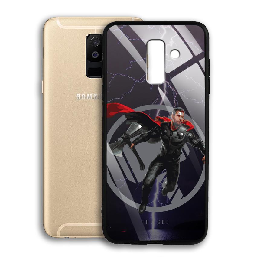 Ốp Lưng Kính Cường Lực cho điện thoại Samsung Galaxy A6 Plus 2018 - 03009 0540 GOD01 - Hàng Chính Hãng