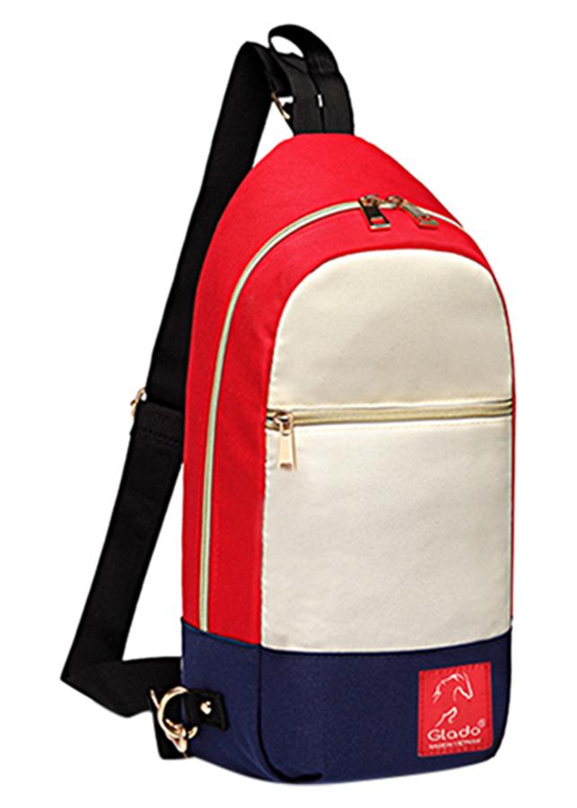 Túi Messenger Thời Trang Glado DCG028 - Trắng Đỏ