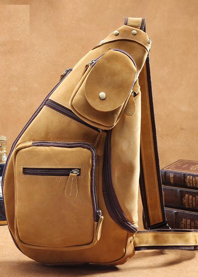 Túi Đeo Ngực Da Bò Nam Cowboy 281 (27 x 8 cm) - Nâu - 1845150 , 5502837041003 , 62_13943885 , 2090000 , Tui-Deo-Nguc-Da-Bo-Nam-Cowboy-281-27-x-8-cm-Nau-62_13943885 , tiki.vn , Túi Đeo Ngực Da Bò Nam Cowboy 281 (27 x 8 cm) - Nâu
