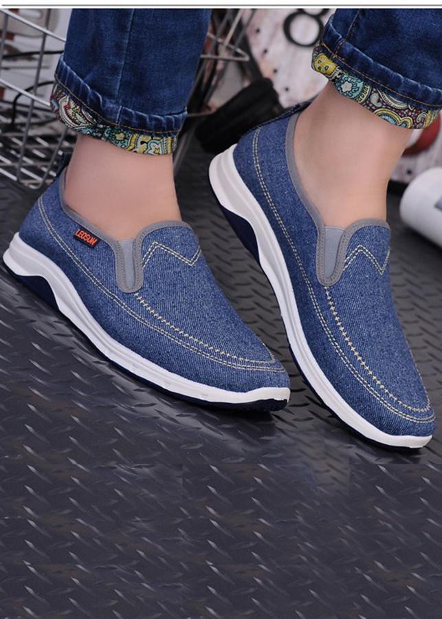 Giày Sneaker Thể Thao Đế Êm Chất Vải Cao Cấp [ TN07 - Xanh Navy ]