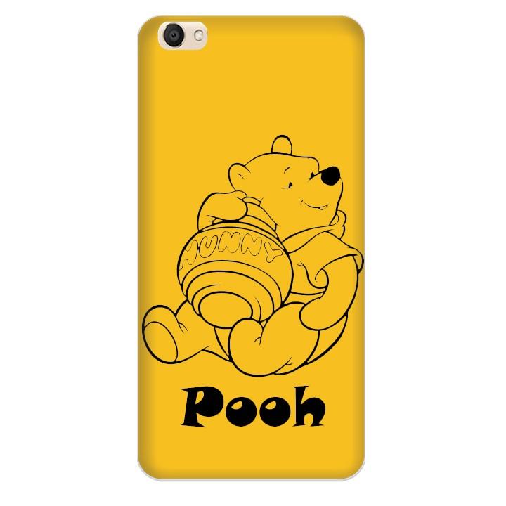 Ốp lưng nhựa cứng nhám dành cho Vivo V5 in hình Pooh