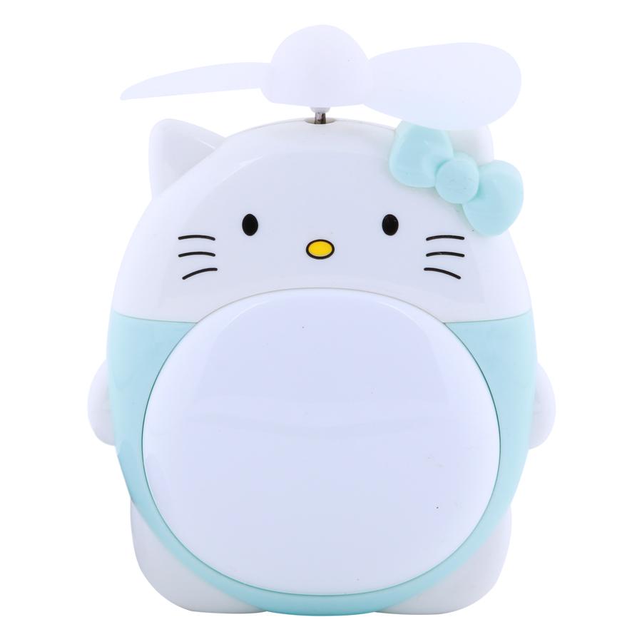 Quạt Sạc Mini Có Đèn Kitty - Màu Ngẫu Nhiên