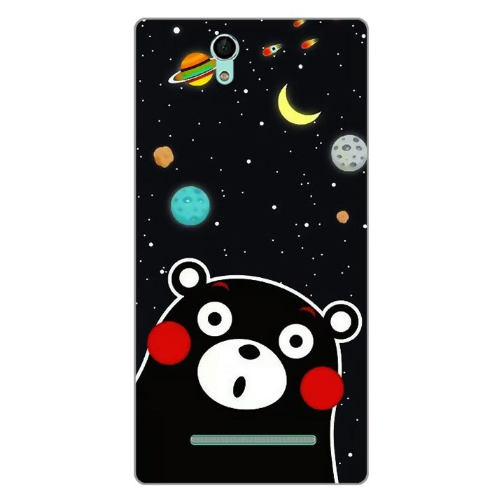 Ốp lưng dẻo Nettacase cho điện thoại Sony Xperia C3 _0345 BEAR03 - Hàng Chính Hãng