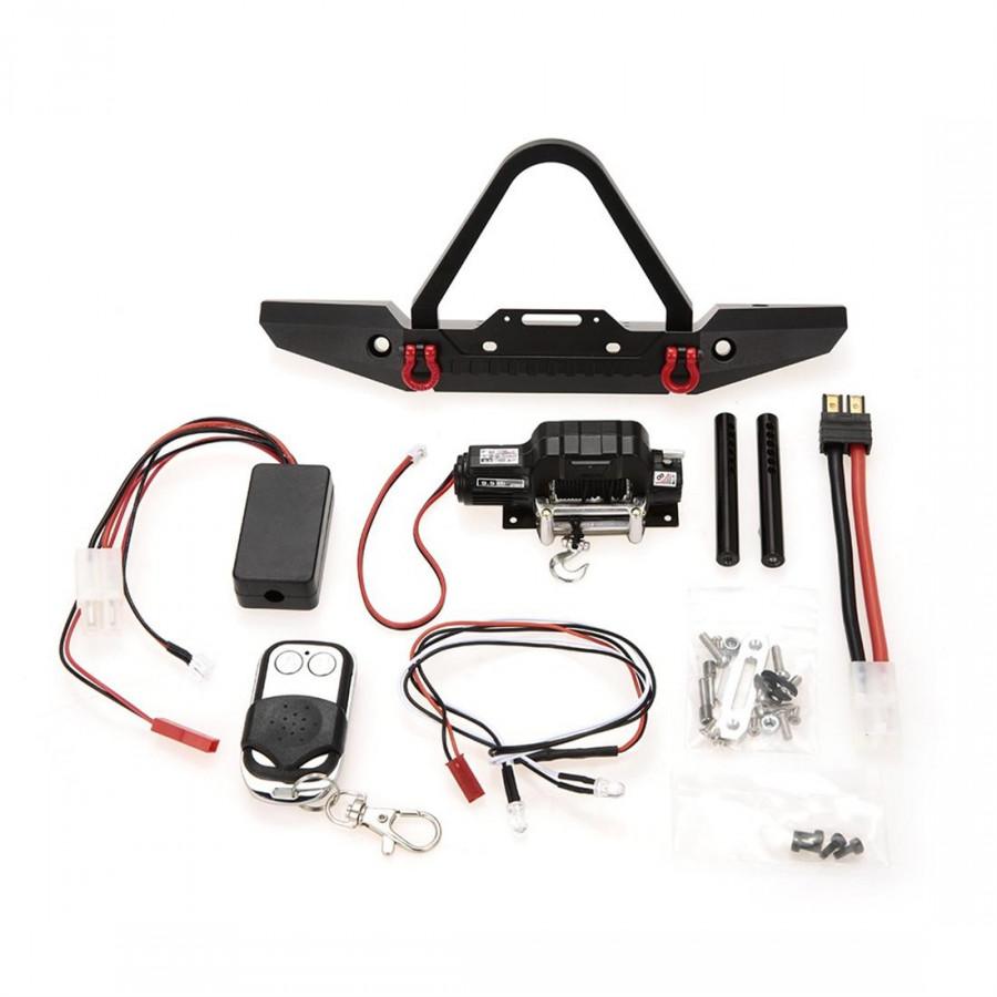 Cản Trước Bằng Kim Loại + Đèn LED Cho 1/10 TRX-4 RC Crawler Chuyên Dụng