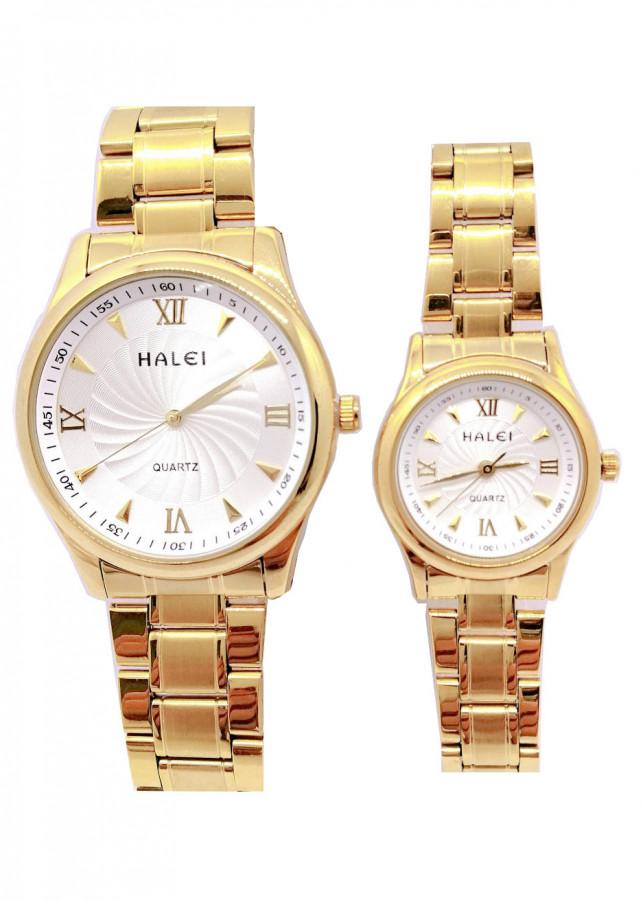 Cặp đồng hồ Nam Nữ Halei - HL4890 Dây vàng - 1795326 , 6907150881487 , 62_12403765 , 2000000 , Cap-dong-ho-Nam-Nu-Halei-HL4890-Day-vang-62_12403765 , tiki.vn , Cặp đồng hồ Nam Nữ Halei - HL4890 Dây vàng