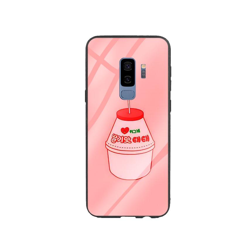 Ốp Lưng Kính Cường Lực cho điện thoại Samsung Galaxy S9 Plus - Tea Milk