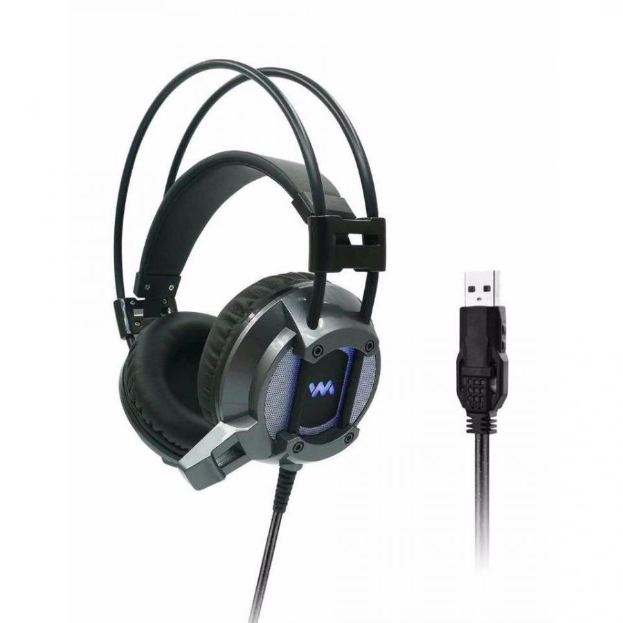 Tai nghe chụp tai WM9600 7.1 Màu xám