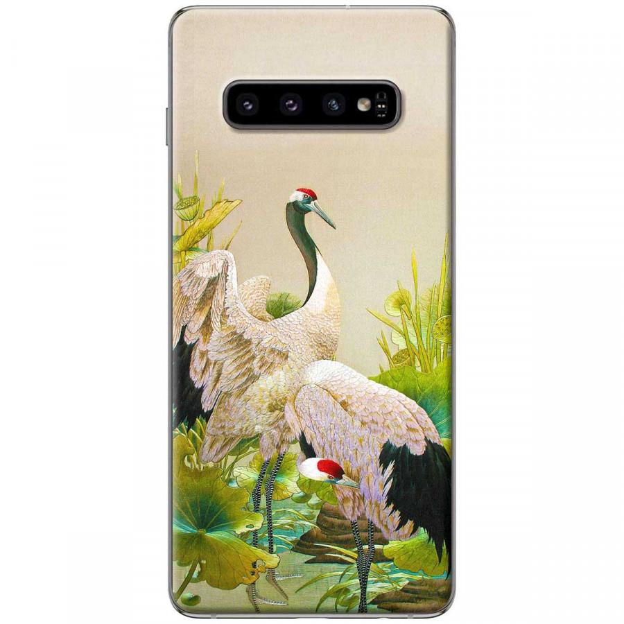 Ốp lưng dành cho Samsung S10 Chim hạc