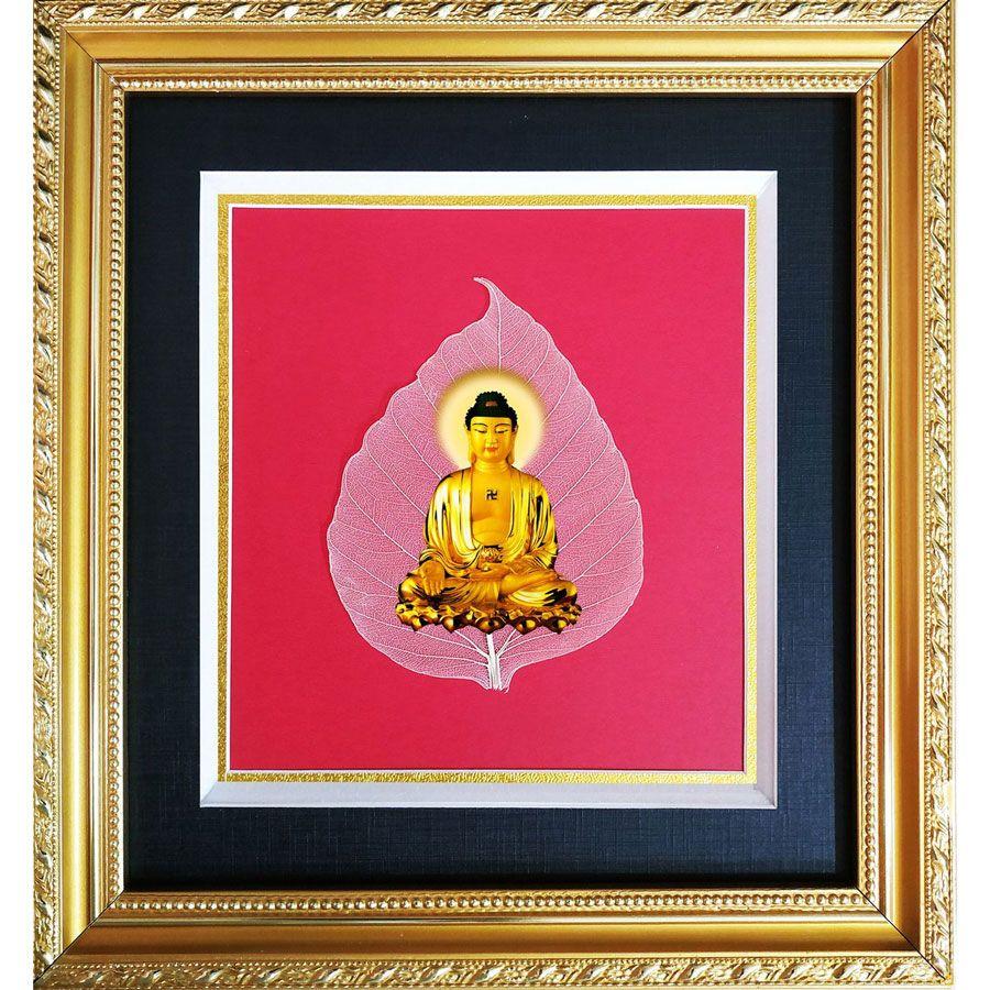 Tranh Phật Trên Lá Bồ Đề HPB-03