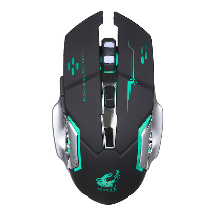 Free Wolf Wireless Gaming Mouse 2400Dpi 7 Breathing Lights Adjustable Dpi Mice With 2.4G And 10M / 33Ft Long Transmission - 2362274 , 4977879030802 , 62_15422628 , 347000 , Free-Wolf-Wireless-Gaming-Mouse-2400Dpi-7-Breathing-Lights-Adjustable-Dpi-Mice-With-2.4G-And-10M--33Ft-Long-Transmission-62_15422628 , tiki.vn , Free Wolf Wireless Gaming Mouse 2400Dpi 7 Breathing Ligh
