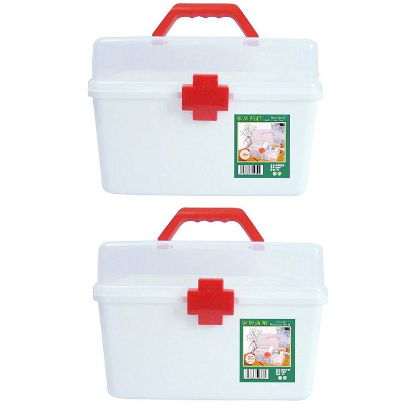 Combo 2 Hộp đựng thuốc chuyên dụng gia đình nhựa PP (cỡ lớn)