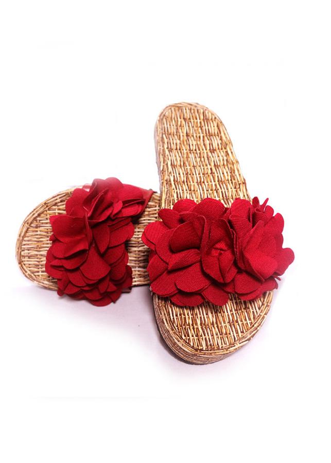 Dép nữ quai ngang hình hoa đế vân gỗ thời trang T002K235 - Đỏ - 6326822912661,62_2319203,102000,tiki.vn,Dep-nu-quai-ngang-hinh-hoa-de-van-go-thoi-trang-T002K235-Do-62_2319203,Dép nữ quai ngang hình hoa đế vân gỗ thời trang T002K235 - Đỏ