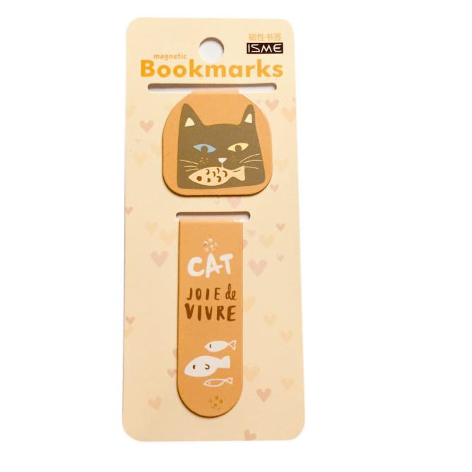 Bộ 2 đánh dấu sách bookmark mèo nam châm