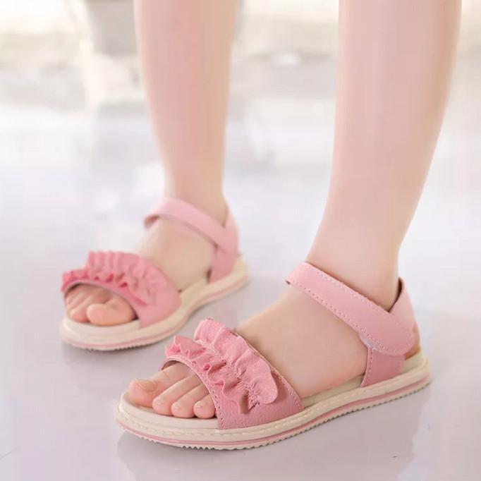 Giày sandal đơn giản cho bé gái 4-10 tuổi đáng yêu – S12