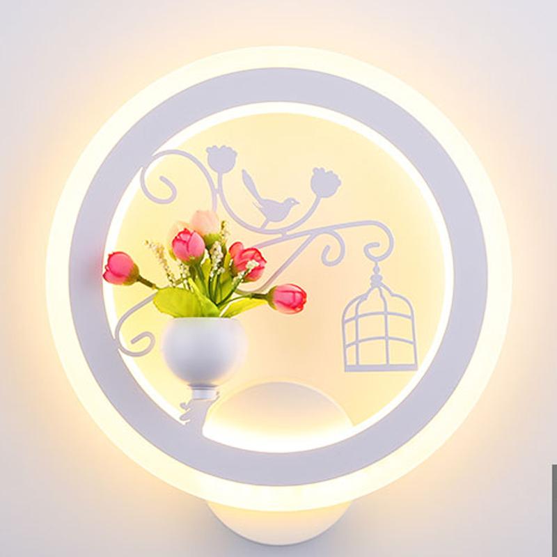 Đèn trang trí gắn tường phòng ngủ con chim nho nhỏ , phòng khách LED  ba chế độ ánh sáng TRAINING LAMP 01T