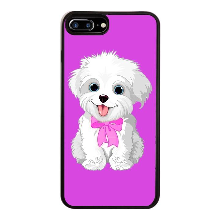 Ốp Lưng Kính Cường Lực Dành Cho Điện Thoại iPhone 7 Plus / 8 Plus Puppy Cute Mẫu 4